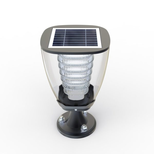 100 lumens Cup Design Solar Post light